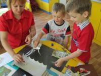 Детские представления о движении на перекрестке отразились в коллаже